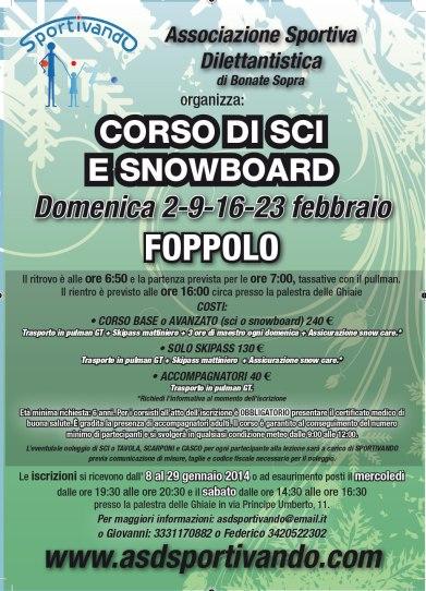 Corso di sci e snowboard 2014
