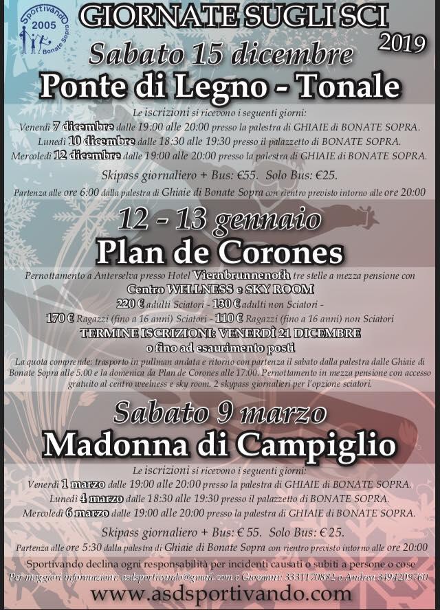 Volantino gite 2019