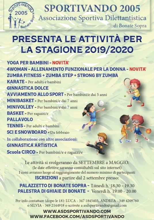 Volantino sportivando 2019-20 fronte