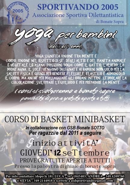 Volantino yoga e basket 2019-20