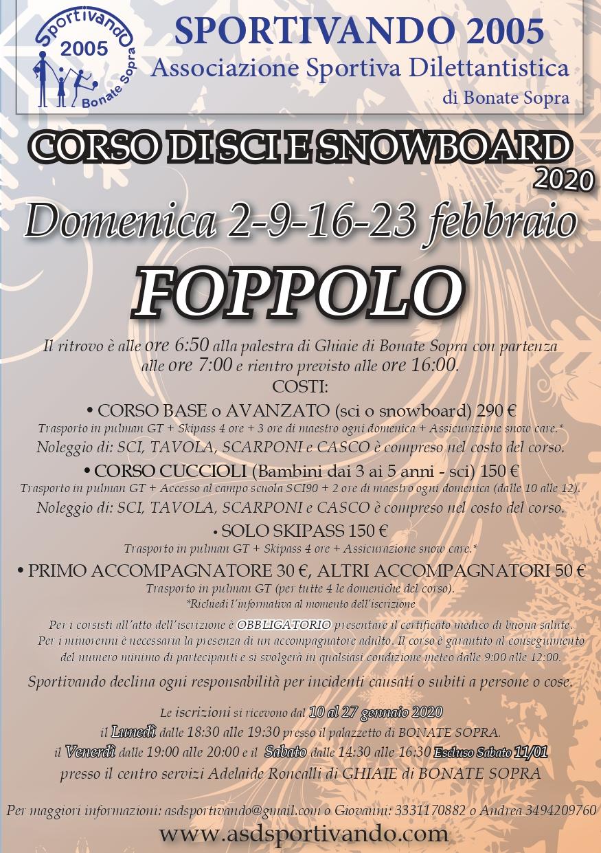 Volantino Foppolo 2020